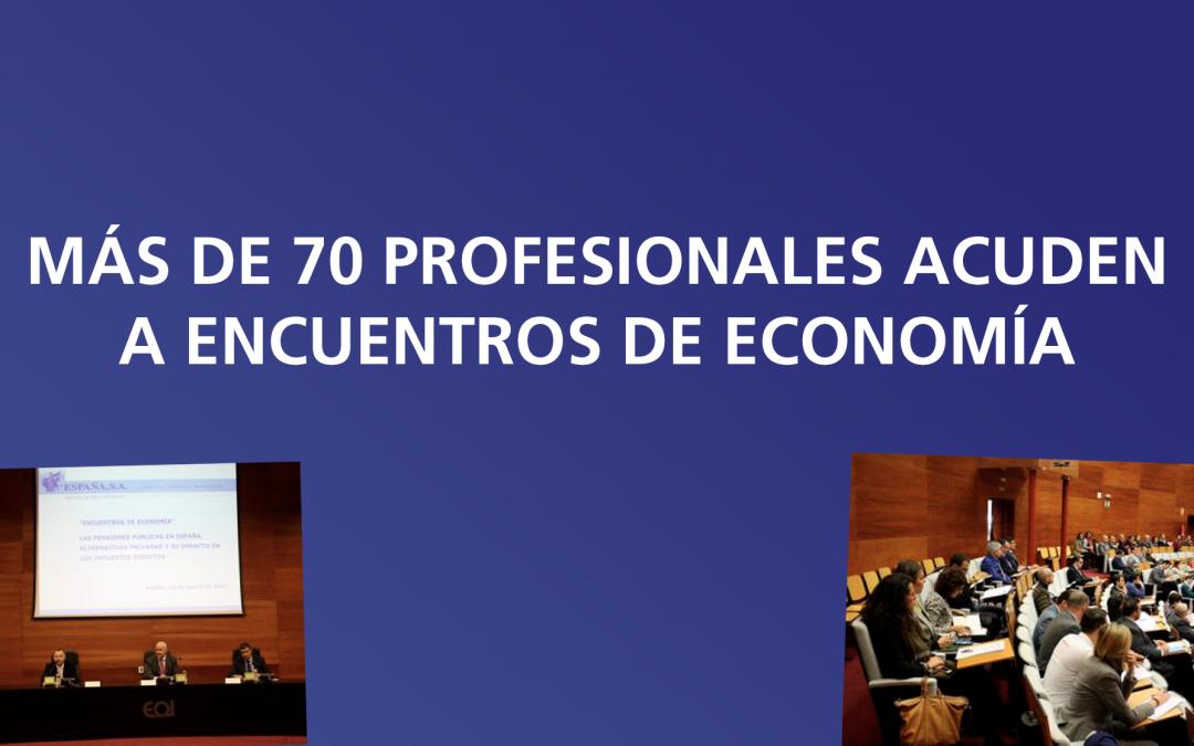 """Más de 70 profesionales acuden a los """"Encuentros de Economía"""""""